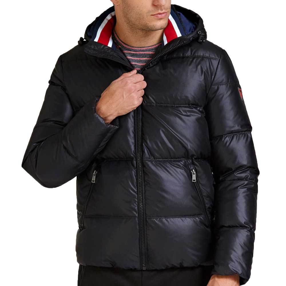 Guess Hooded Down Puffer Jacket - Black M94L42