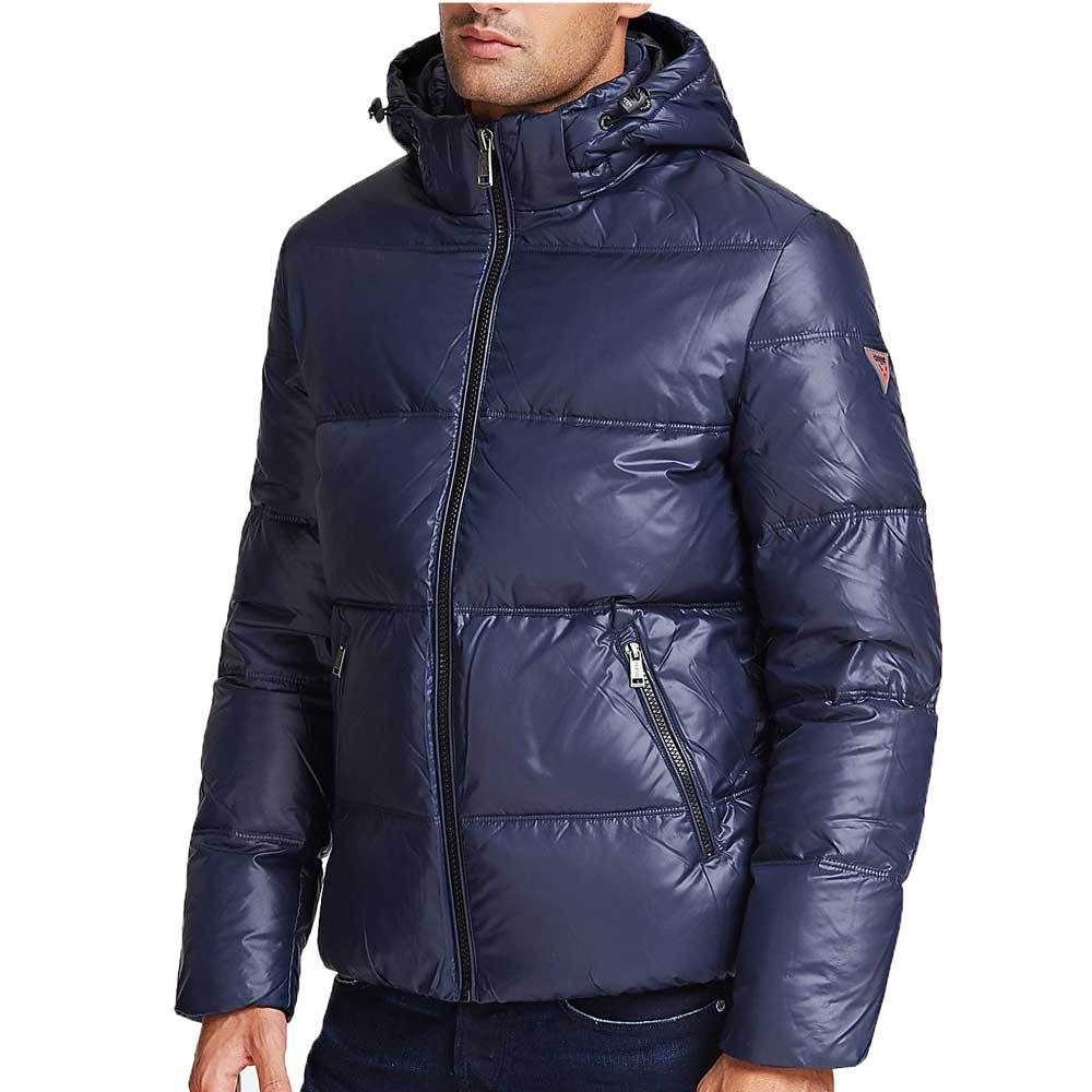 Guess Hooded Puffer Jacket - Blue Navy M94L42