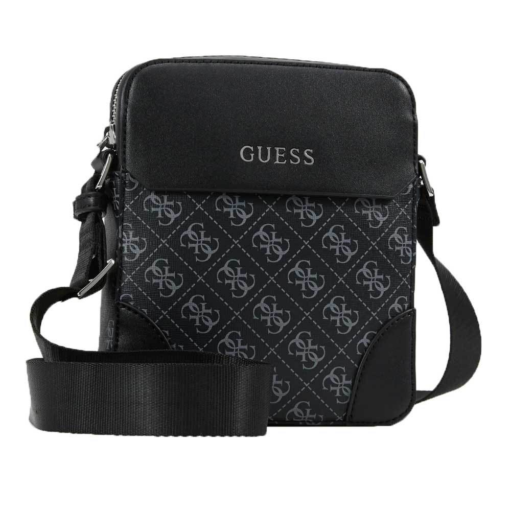 Guess Manhattan Mini Document Side Body Bag -  Black