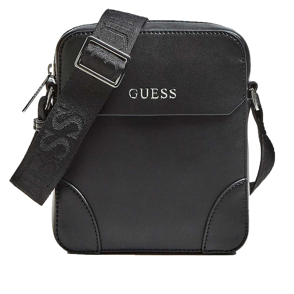 Guess Manhattan Logo Side Body Bag -  Black