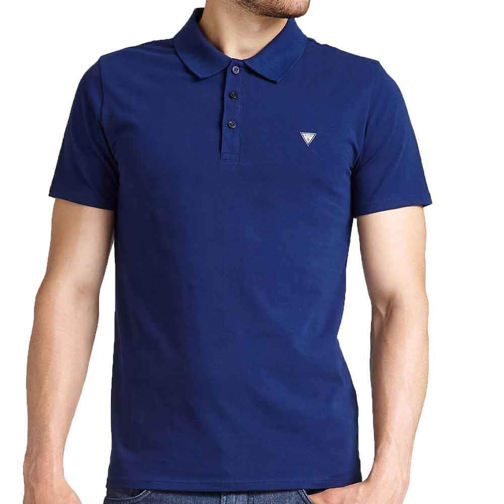 Guess Men's Duane Small Logo Polo Shirt - Navy - so-ldn
