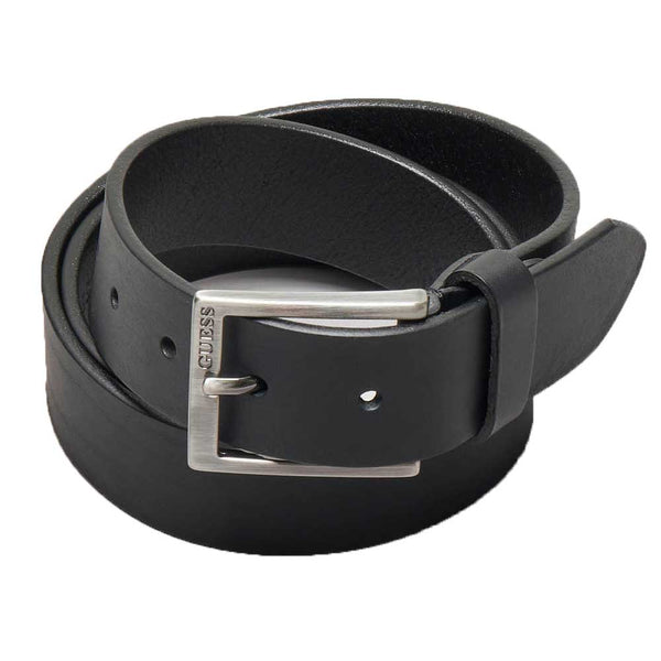 Guess Men's Logo Belt- Black BM7252LEA35