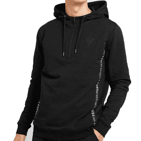 Guess Men's Logo Print Hooded Sweatshirt - Black M94Q49