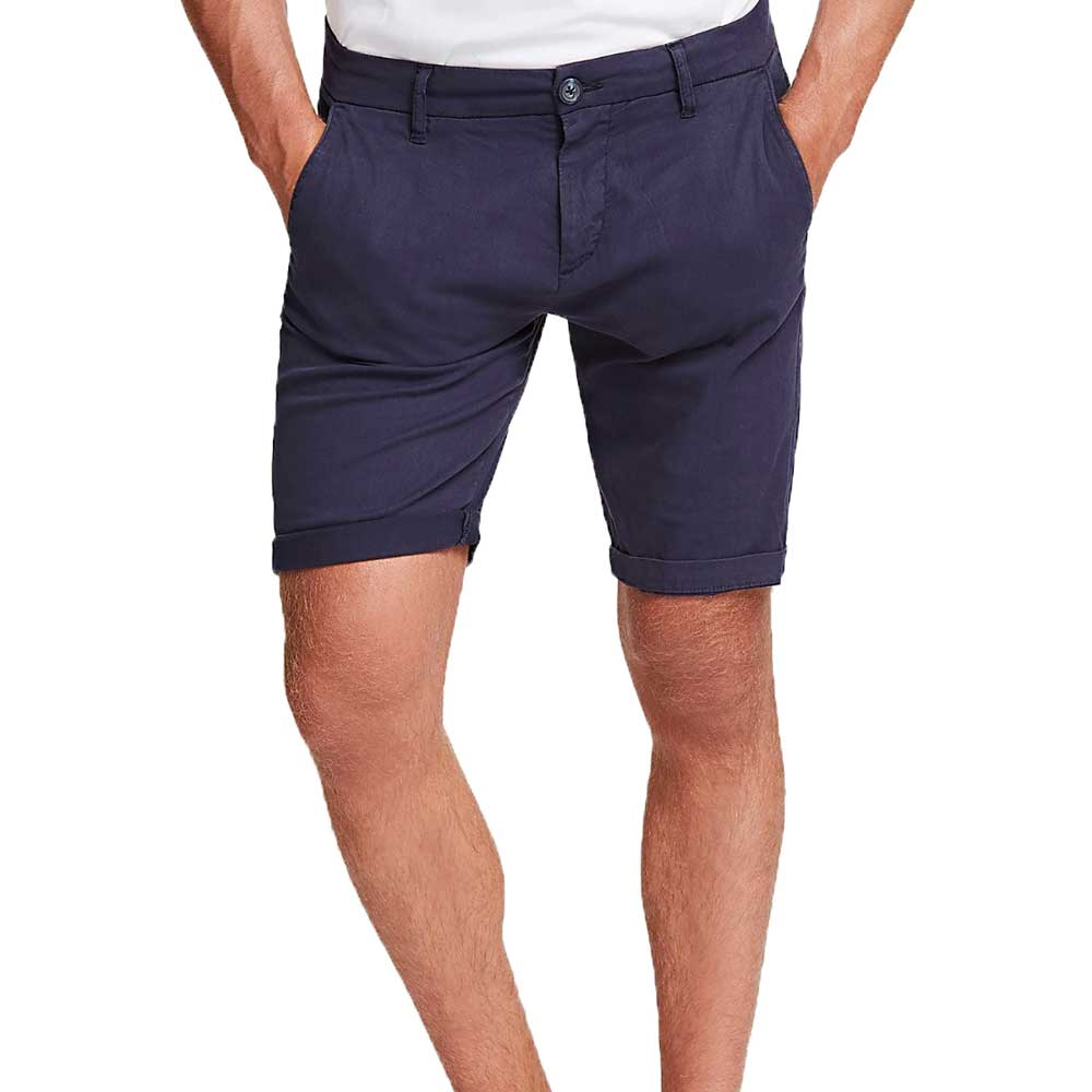 Guess Men's Skinny Fit Stretch Shorts - Navy M02D18WCRL1