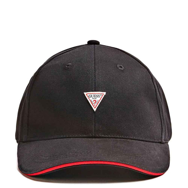 Guess Men's Triangle Logo Cap - Black - so-ldn