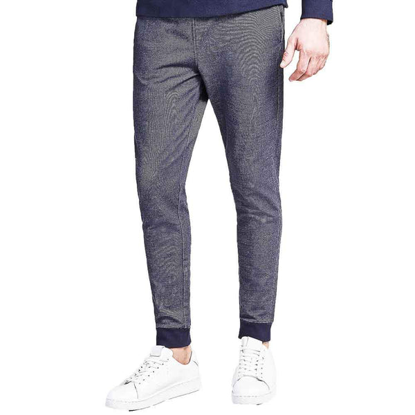 Guess Mens Fleece Sweatpant Joggers - Blue - so-ldn