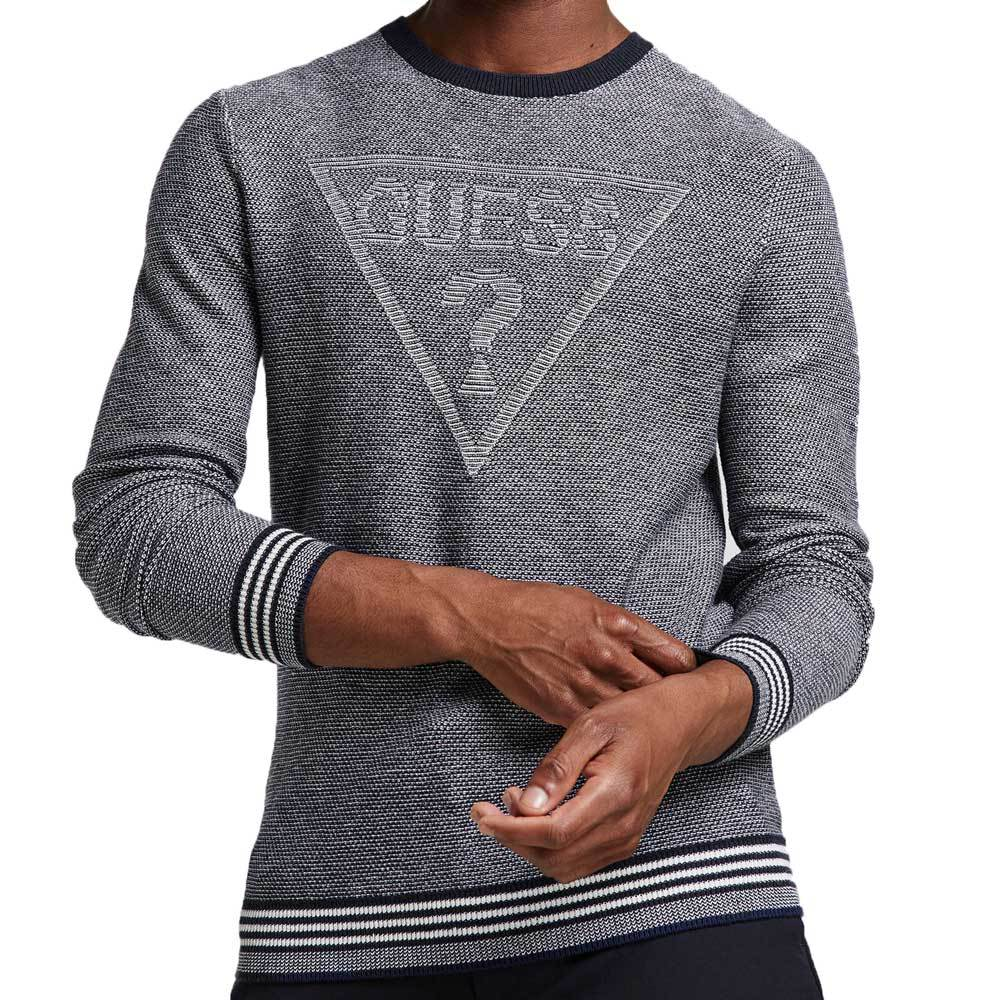 Guess Mens Jacquard Sweater Logo - Blue M94R50Z25R1