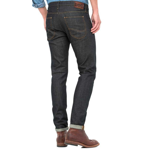 Lee Luke Slim Tapered Fit Denim Jeans - Blue Cause/Black - so-ldn