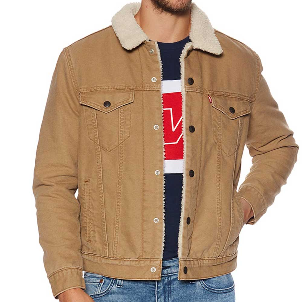 Levi's Type 3 Sherpa Trucker Jacket - Desert Boot Canvas 16365-0106