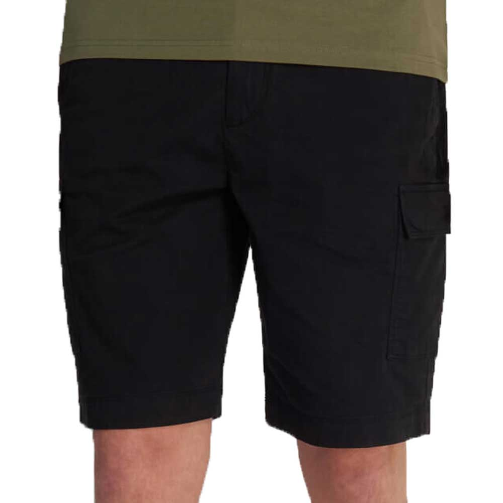 Lyle And Scott Cotton Cargo Shorts - Black SH1206V