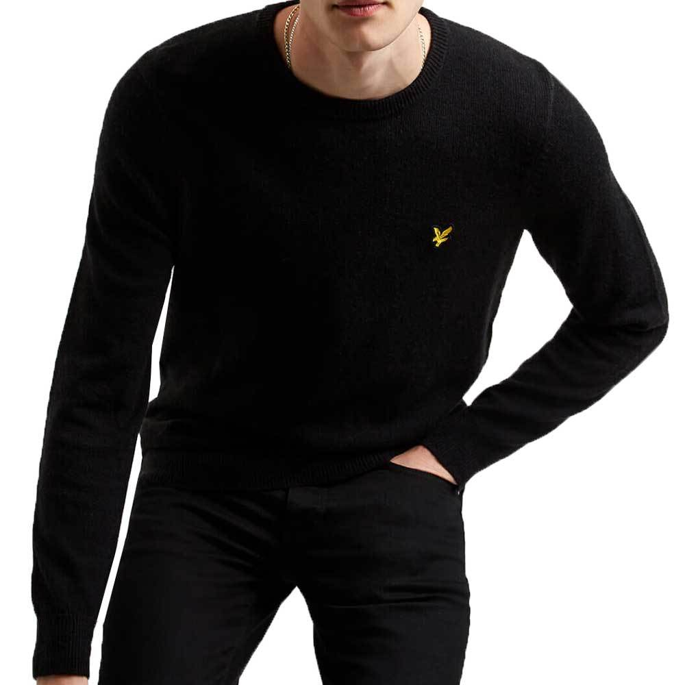 Lyle And Scott Cotton Merino Crew Neck Jumper - Dark Navy