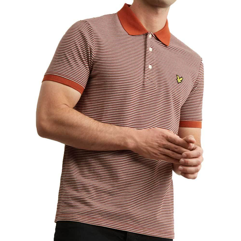 Lyle And Scott Feeder Stripe Polo Shirt - Brown Spice - so-ldn