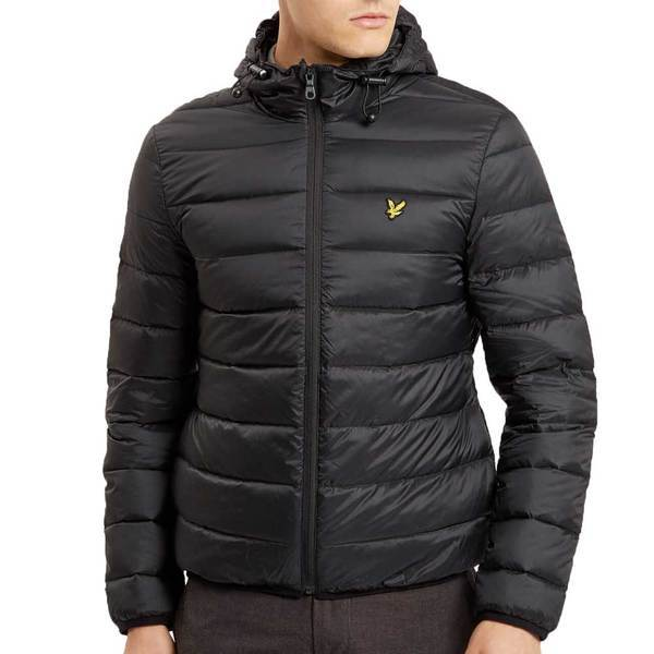 Lyle & Scott Men's Lightweight Puffer Jacket -True Black - so-ldn