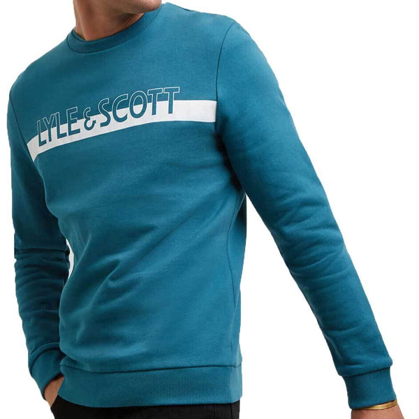 Lyle /& Scott Crew Neck T-Shirt In Petrol Teal