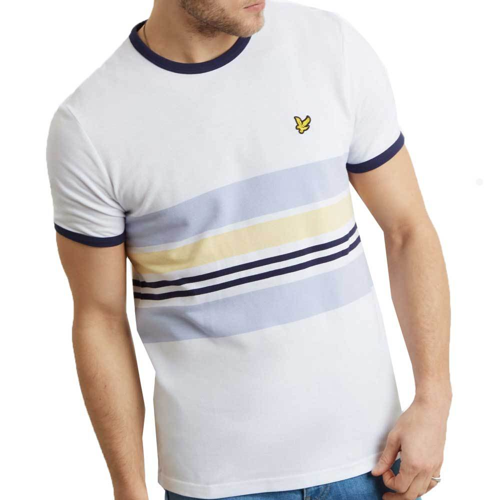 Lyle And Scott Men's Pique Stripe Ringer T-Shirt - White TS1007V - so-ldn