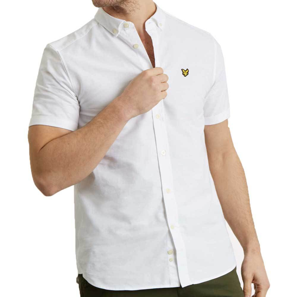 Lyle And Scott Men's Short Sleeve Oxford Shirt - White - so-ldn