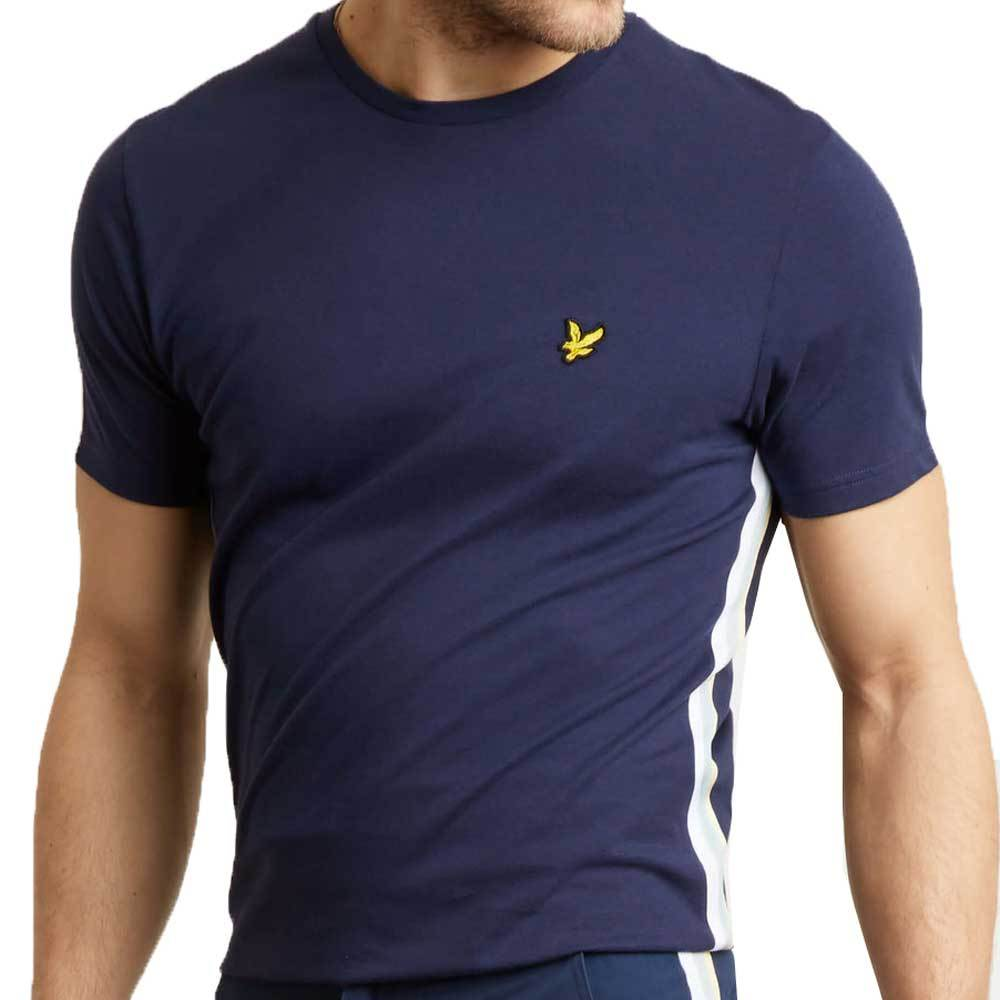 Lyle And Scott Men's Side Stripe T-Shirt - Navy TS1018V - so-ldn
