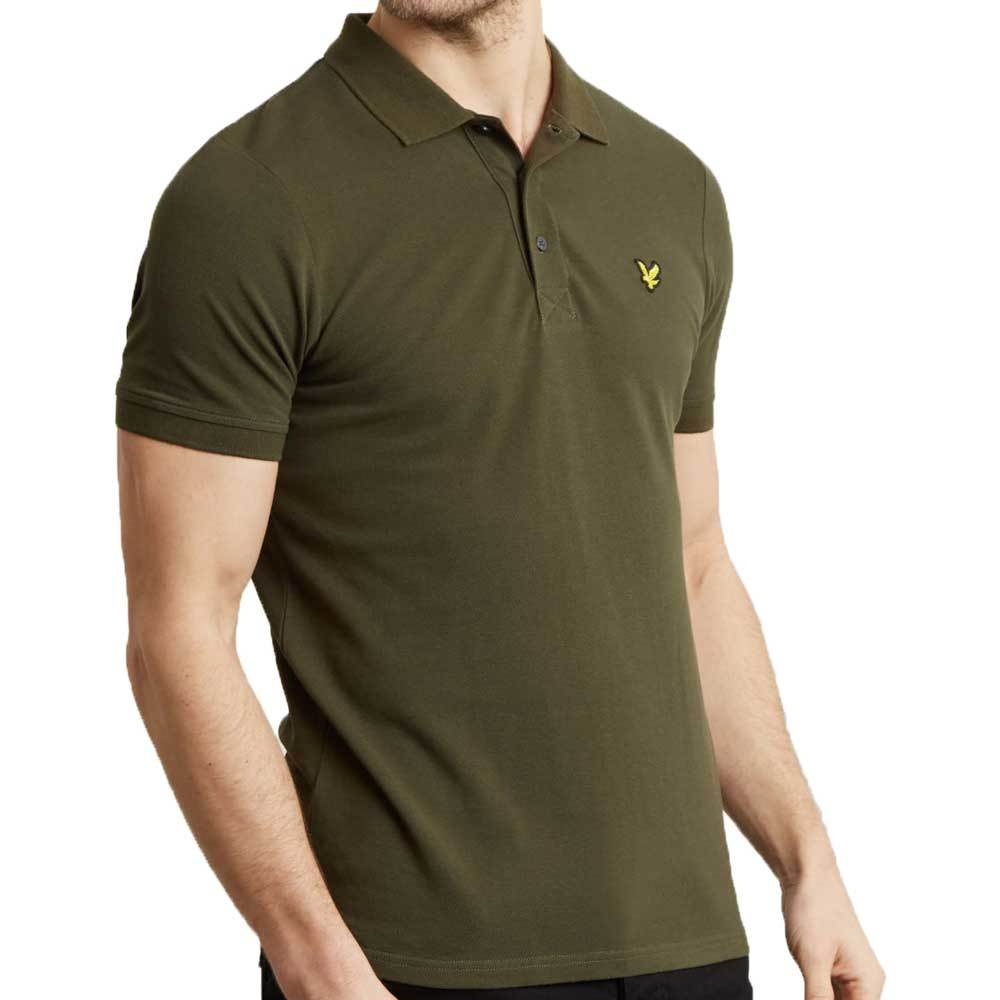 Lyle And Scott Plain Polo Shirt - Dark Sage Green - so-ldn