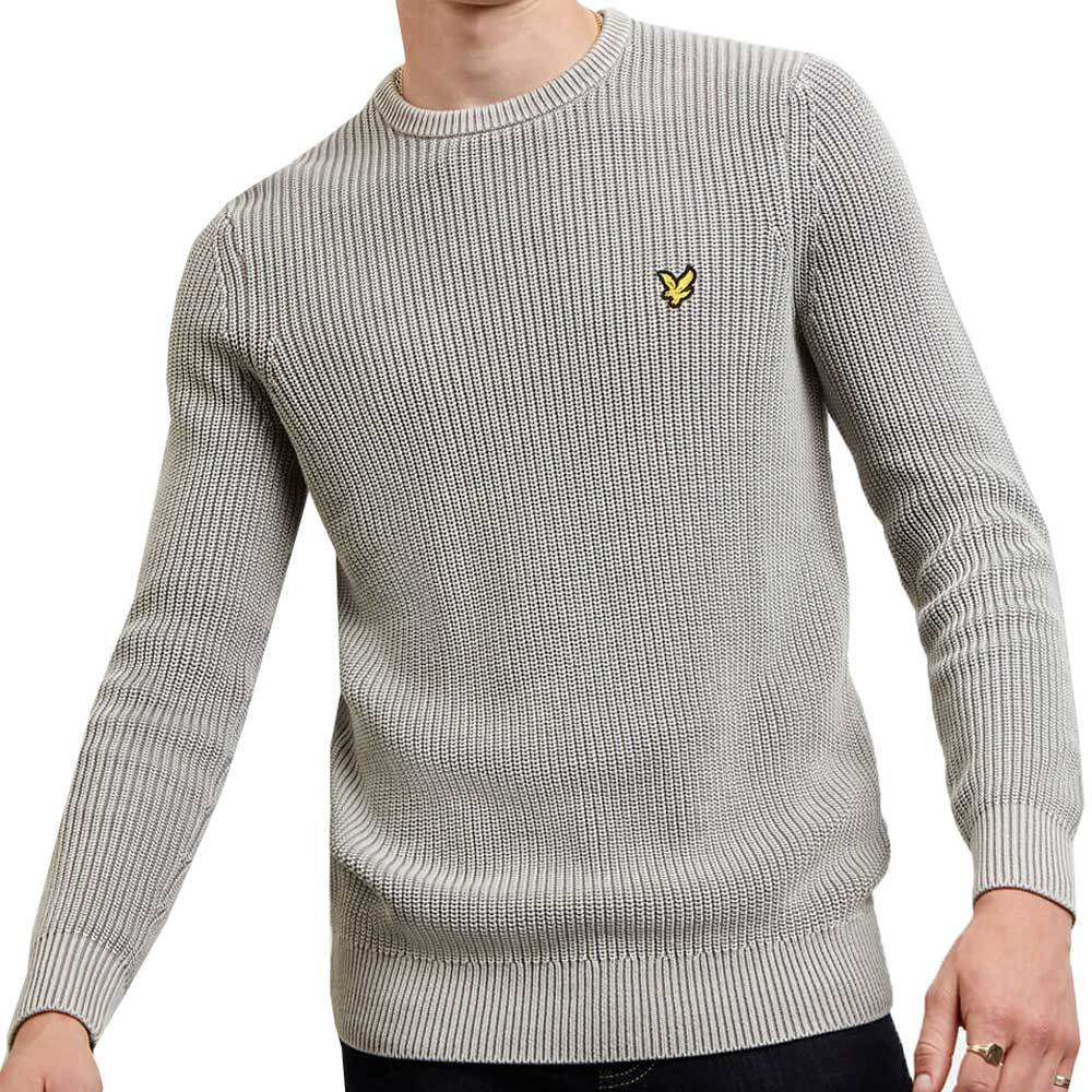 Lyle And Scott Ribbed Jumper - Light Silver KN1113V