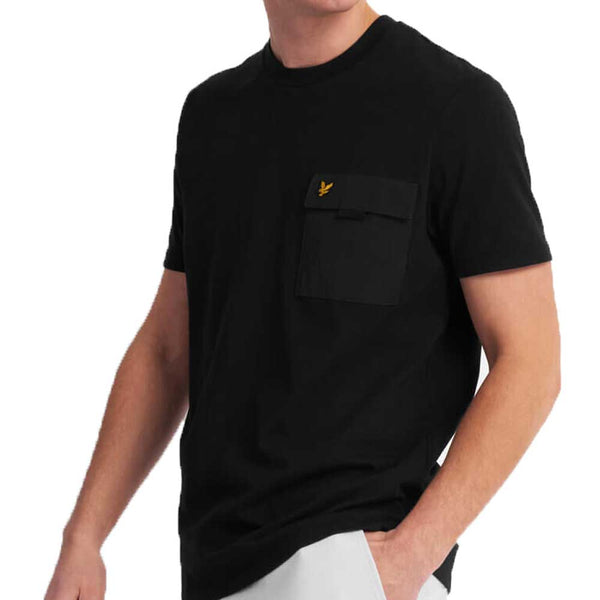 Lyle & Scott Chest Pocket T-Shirt  - Black TS1236V