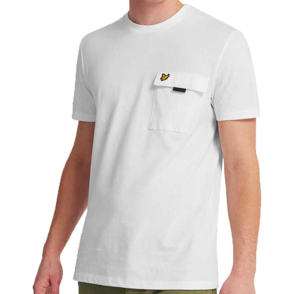 Lyle & Scott Chest Pocket T-Shirt  - White TS1236V