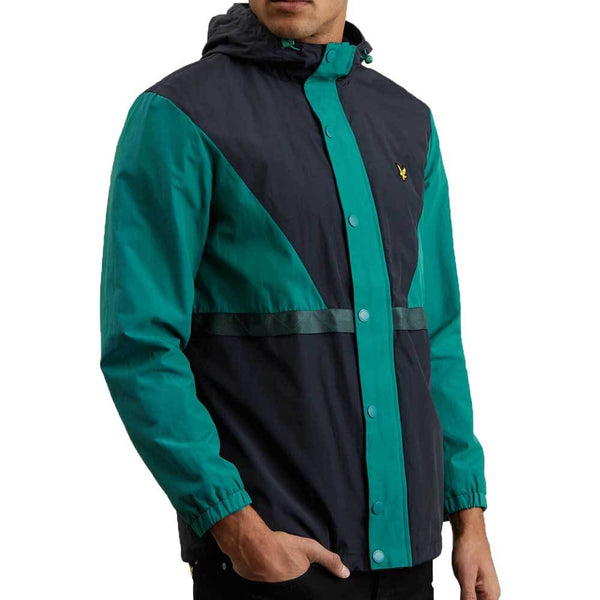Lyle & Scott Colour Block Terrace Jacket - Alpine Green JK1019V - so-ldn