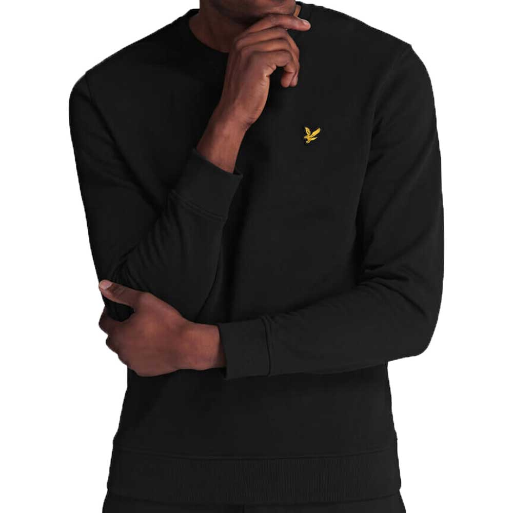 Lyle & Scott Crew Neck Jet Black Sweatshirt - ML424VTR