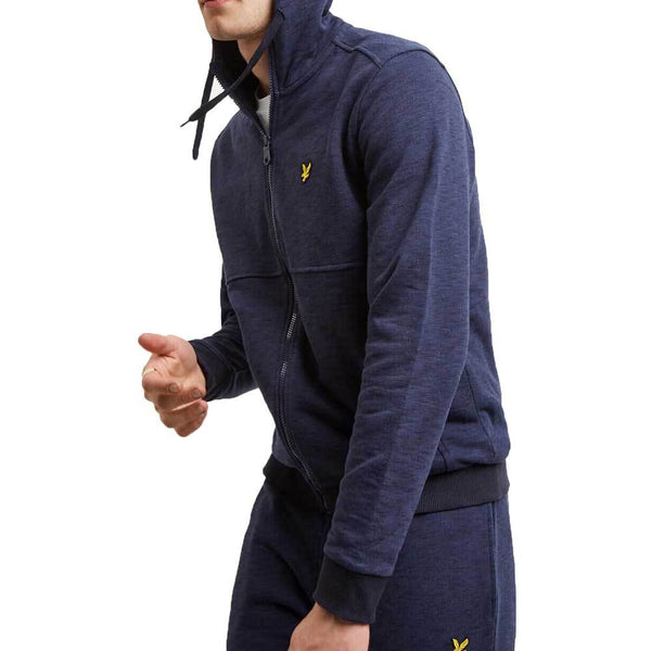 Lyle & Scott Men's Space Dye Zip Through Hoodie - Navy