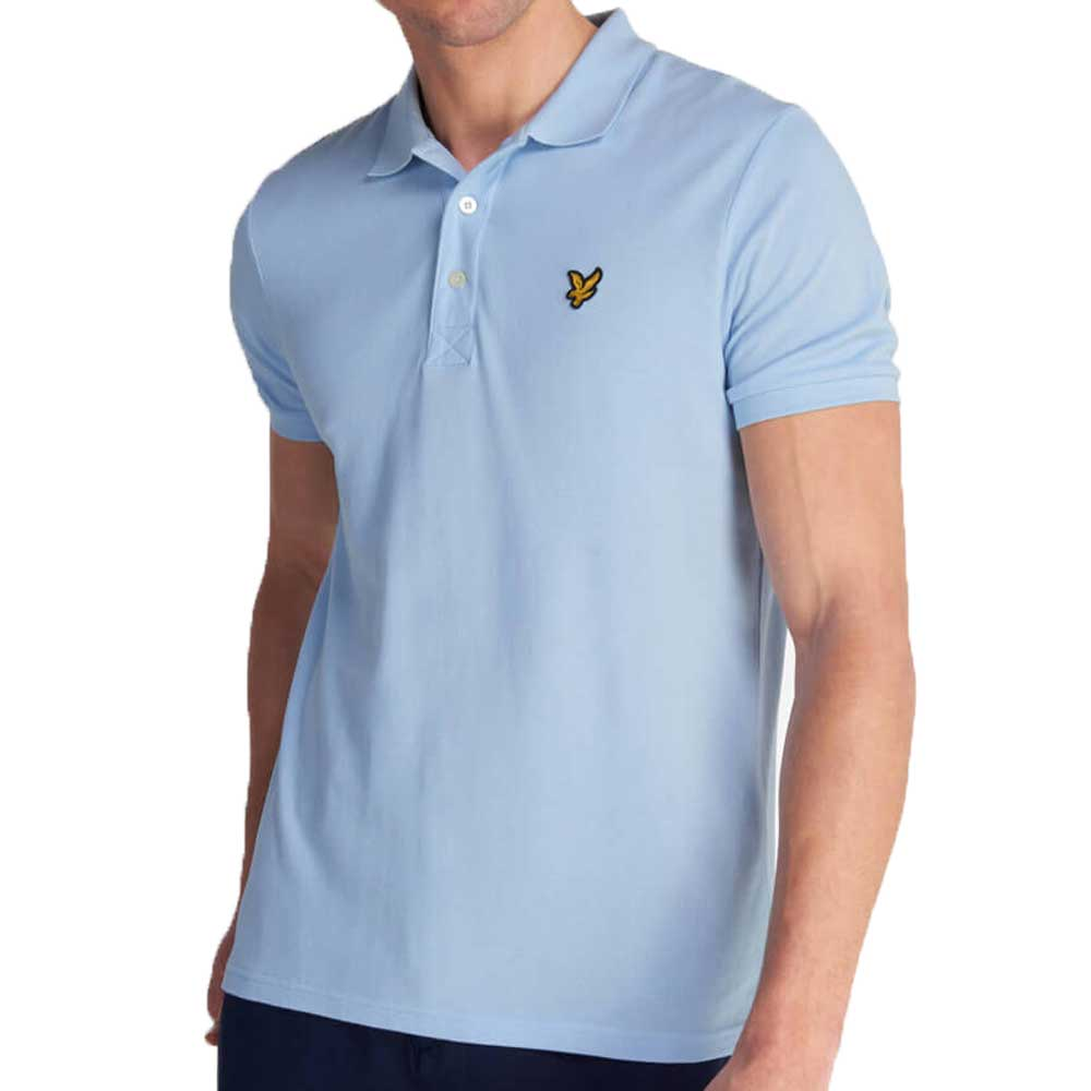Lyle & Scott Plain Polo Shirt - Pool Blue SP400VTR