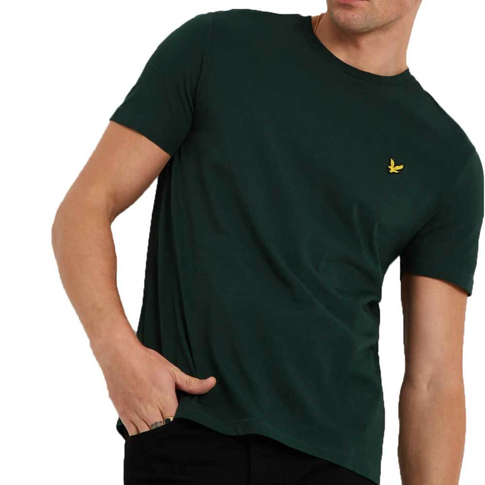 Lyle and Scott Crew Neck Plain T-Shirt - Jade Green