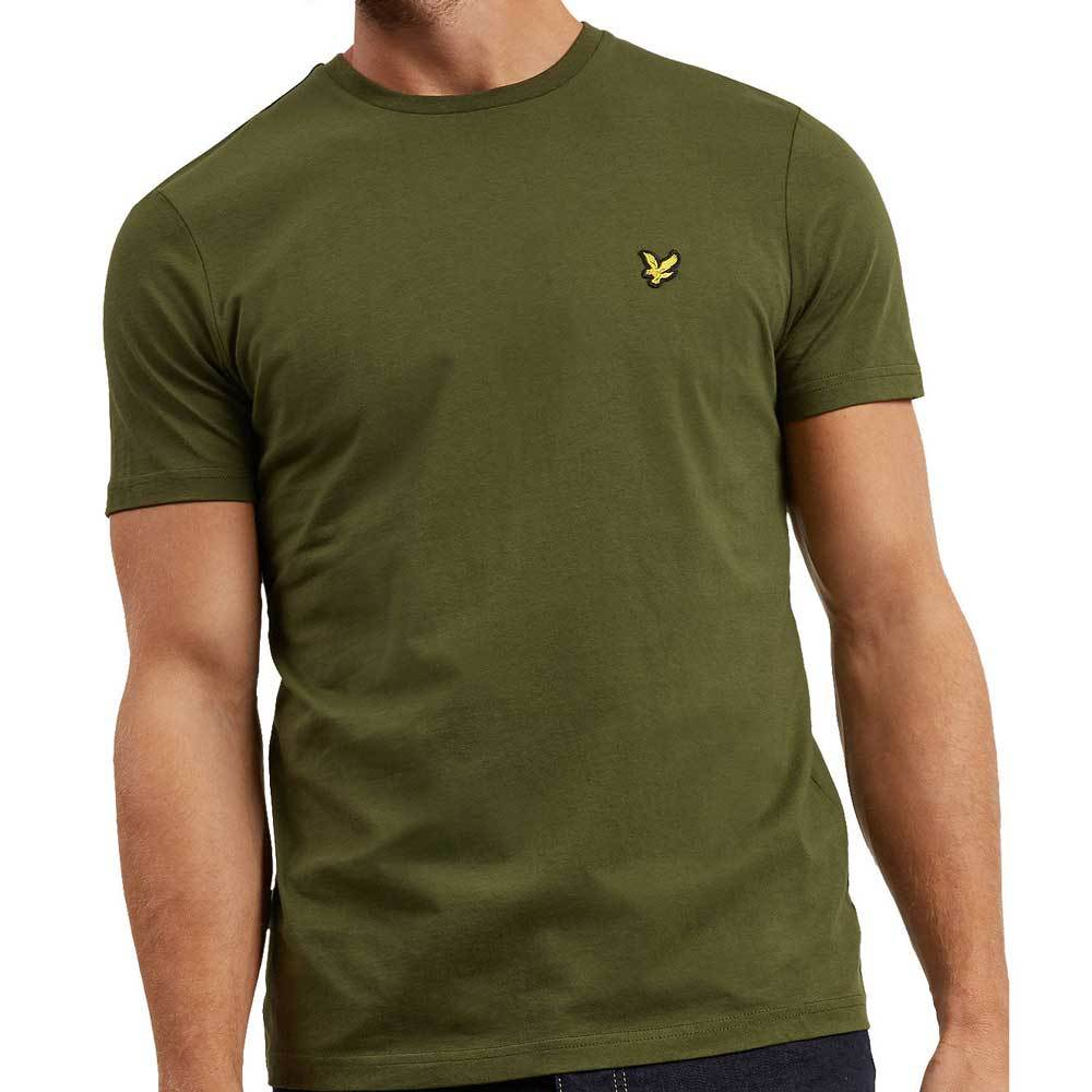 Lyle and Scott Crew Neck Plain T-Shirt - Woodland Green