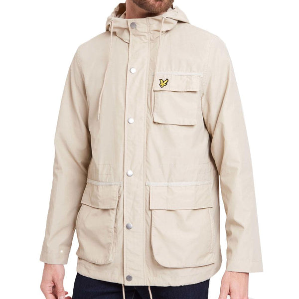 Lyle and Scott Hooded Jacket  Light Stone khaki - so-ldn