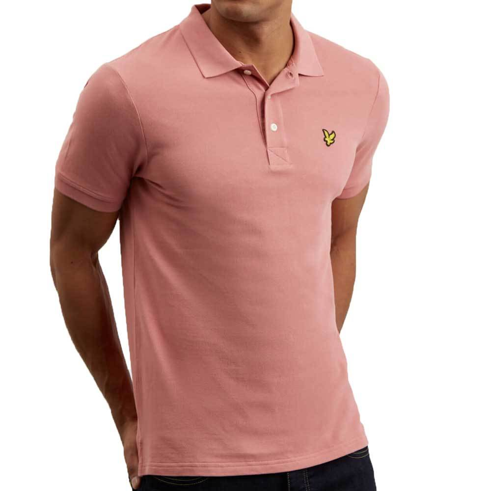 Lyle and Scott Plain Polo Shirt - Pink Shadow - so-ldn