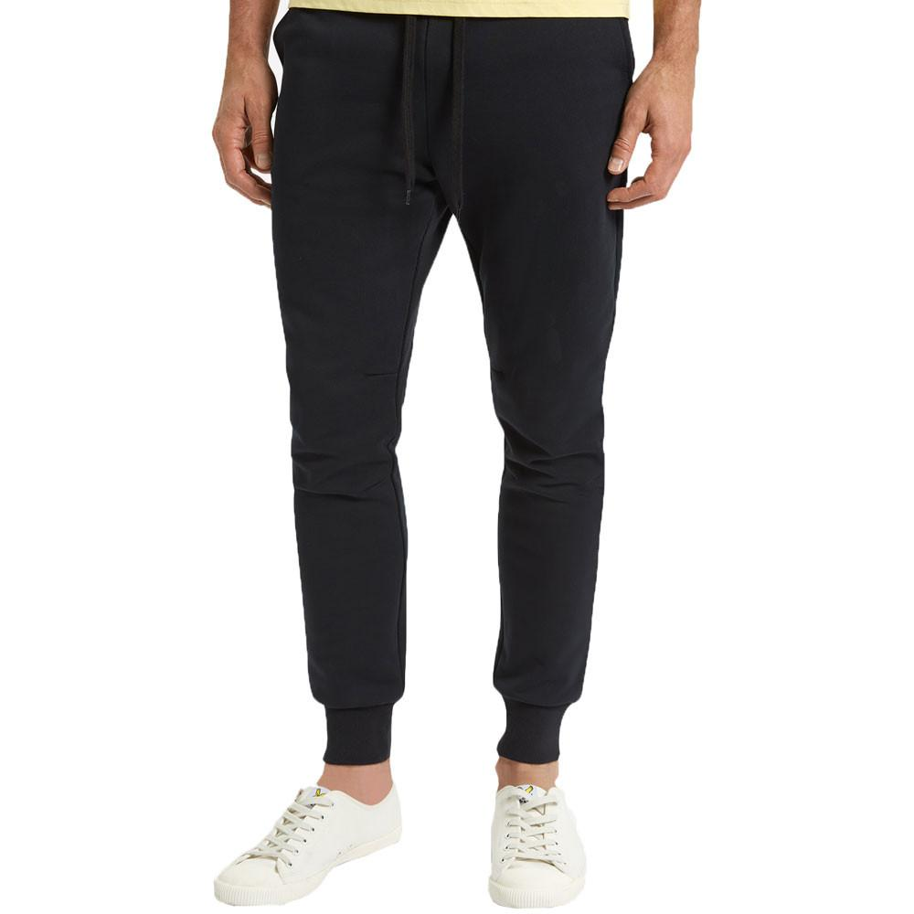 Lyle & Scott True Black Slim Logo Sweat Joggers - so-ldn