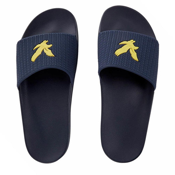 Lyle And Scott Thomson Slides Navy - so-ldn