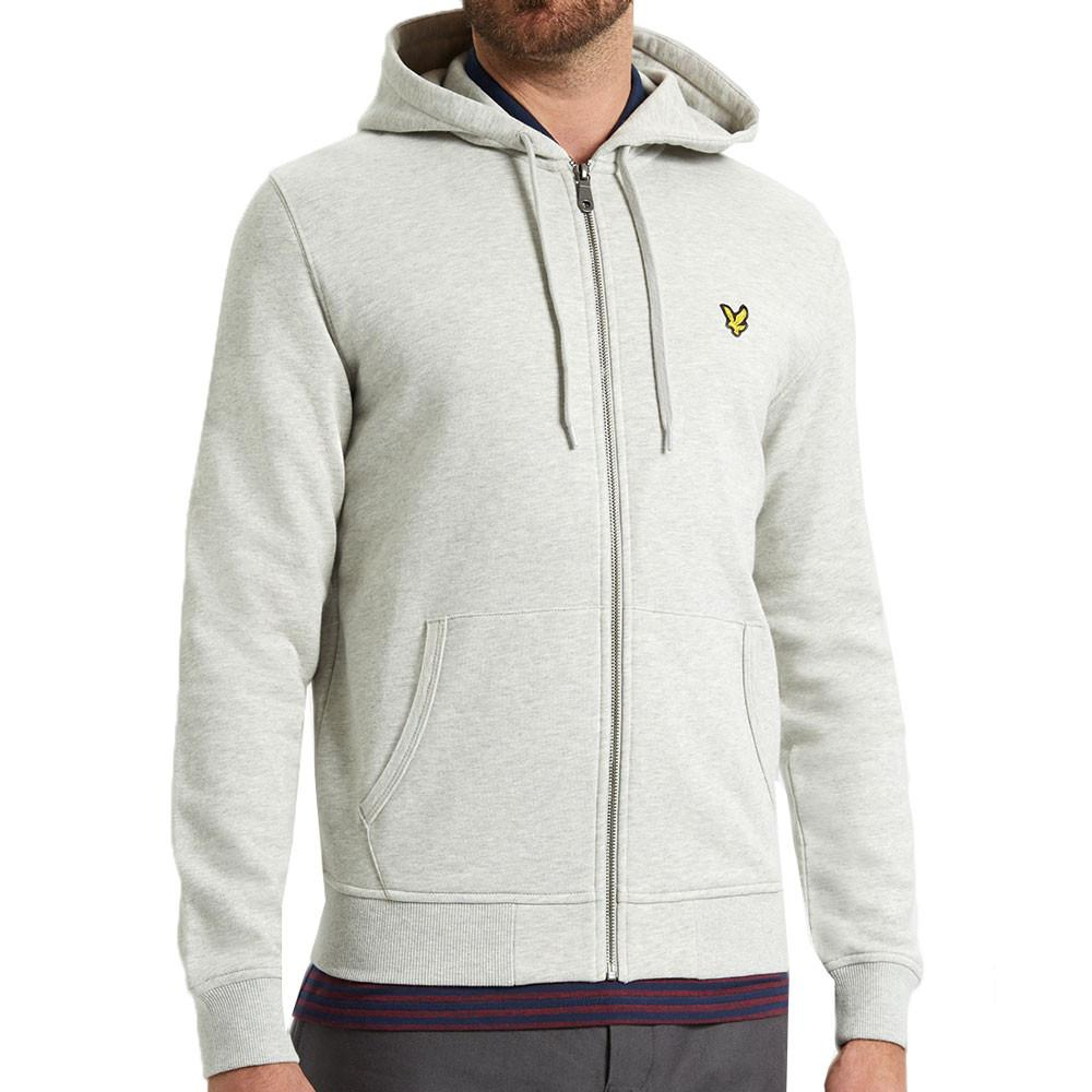 Lyle & Scott Zip-Through Hoodie - Light-Grey Marl - so-ldn