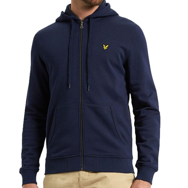 Lyle and Scott Zip-Through Hoodie - Navy ML420V - so-ldn