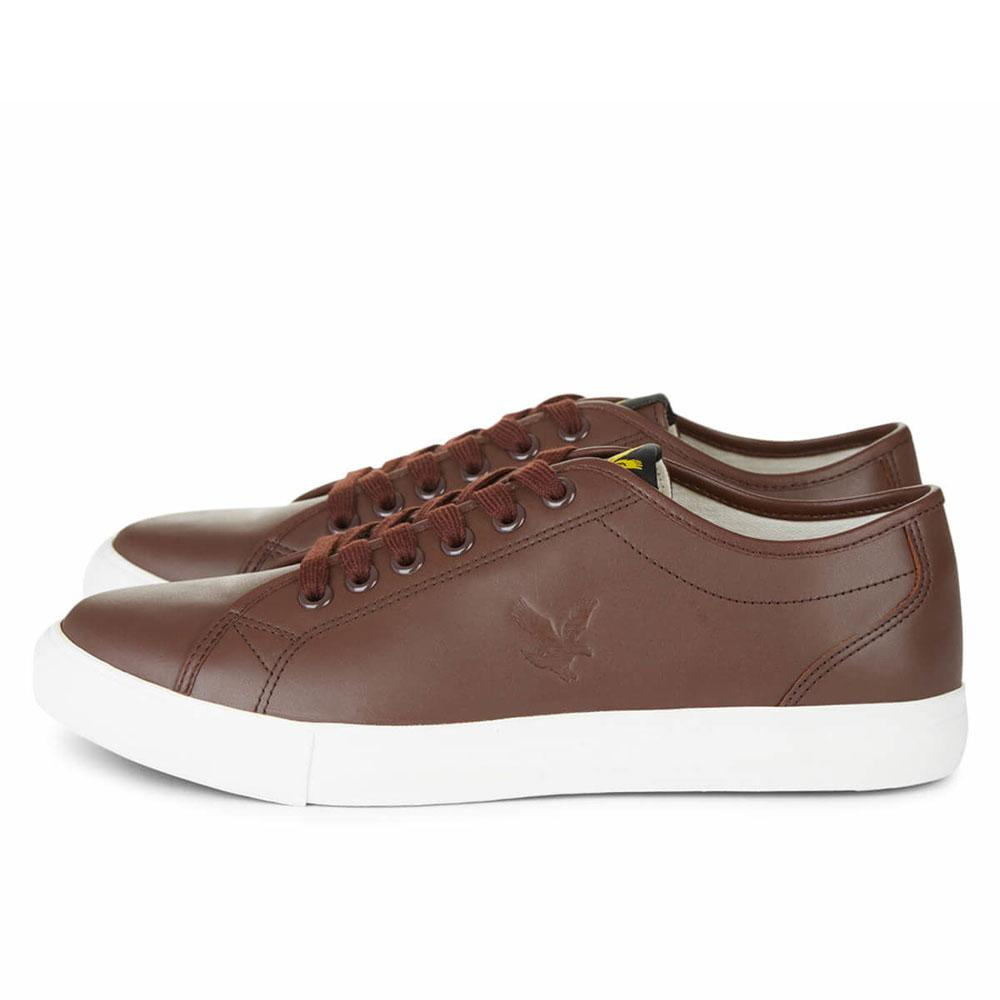 Lyle and Scott Teviot Leather Trainers - Brown - so-ldn
