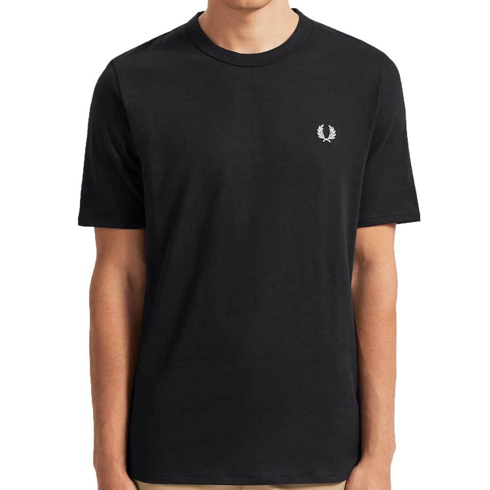 Fred Perry Taped Side T-Shirt - Black M7534