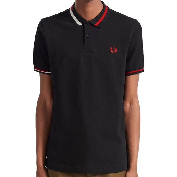 Fred Perry Authentic Abstract Collar Polo Shirt - Black M7604