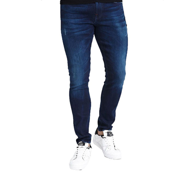 Guess Chris Skinny Jeans Used Look - Blue M94A27D3SY0