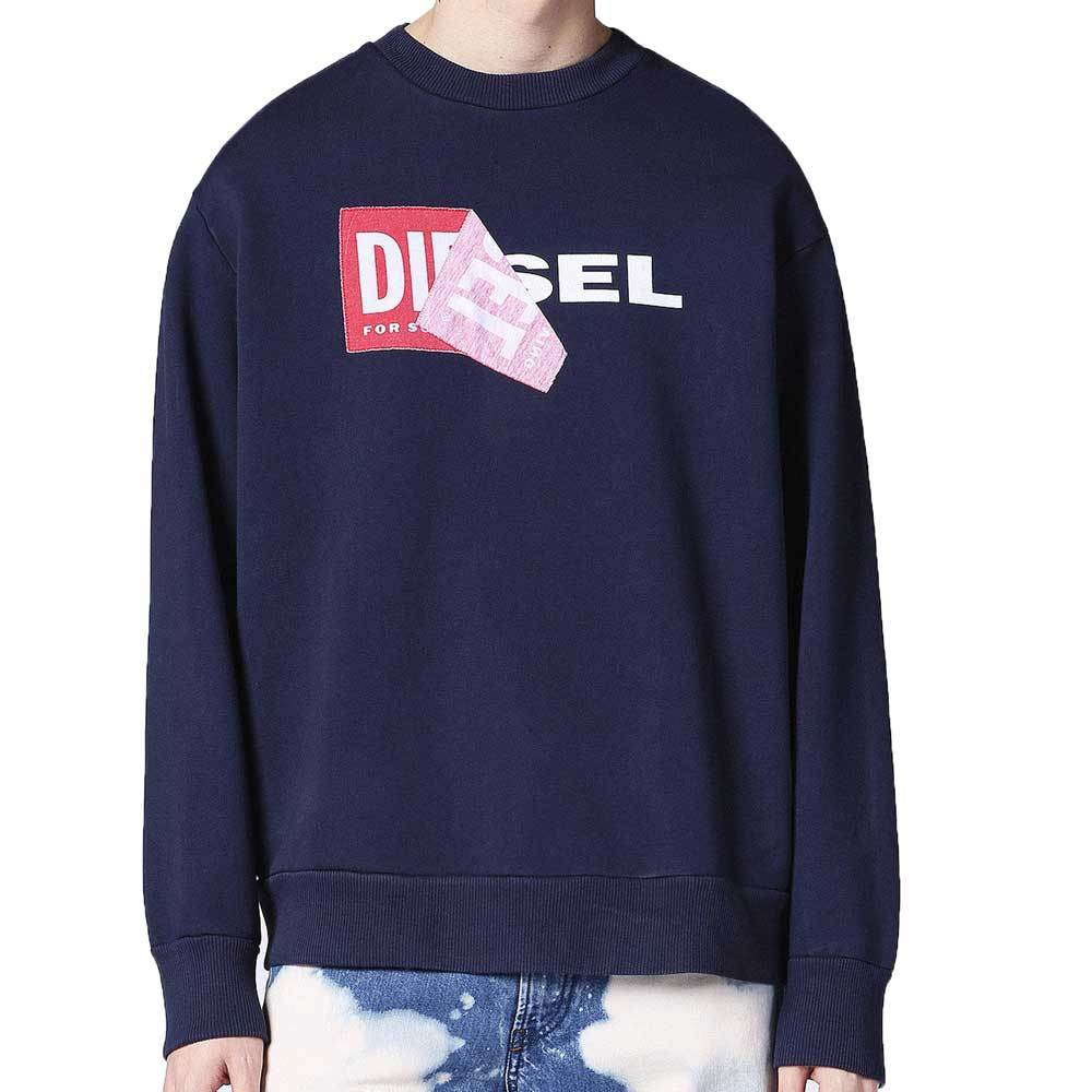 Diesel S-Samy Men's Crew Neck Sweatshirt - Navy - so-ldn