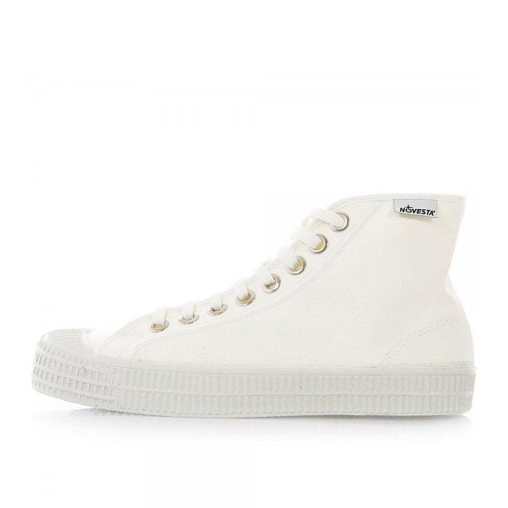 Novesta Star Dribble Canvas Hi-top Trainers - White - so-ldn