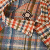 Pretty Green Mens Kidnall Check Shirt - Orange - so-ldn