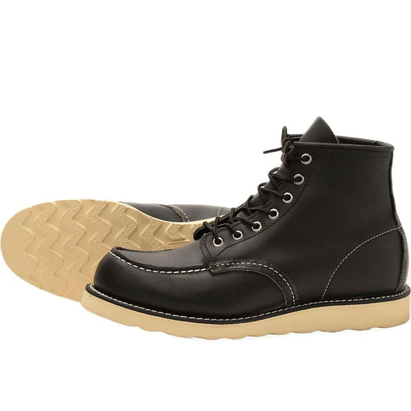 "Red Wing 8130 Heritage Work 6"" Moc Toe Boot - Black - so-ldn"