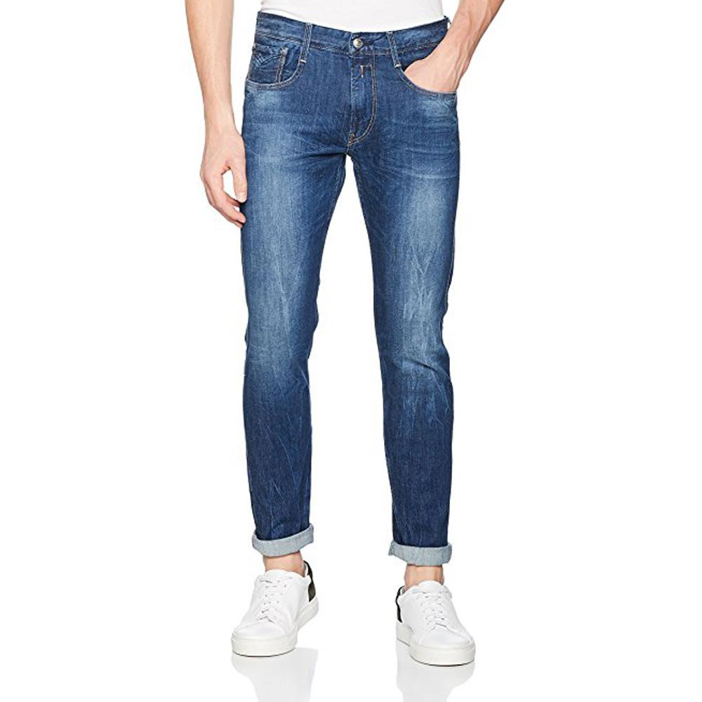 Replay Anbass Slim Fit Denim Blue Jeans M914-63c-923 - so-ldn