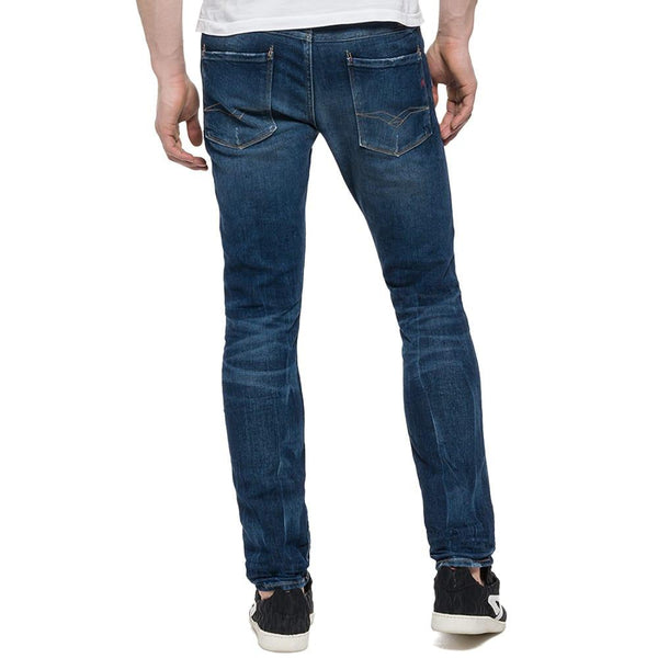 Replay Anbass Slim fit Jeans - Dark Blue - so-ldn