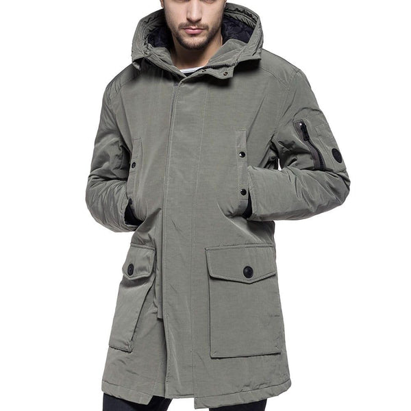 Replay Cotton blend Lapel Parka jacket - Sage Green - so-ldn