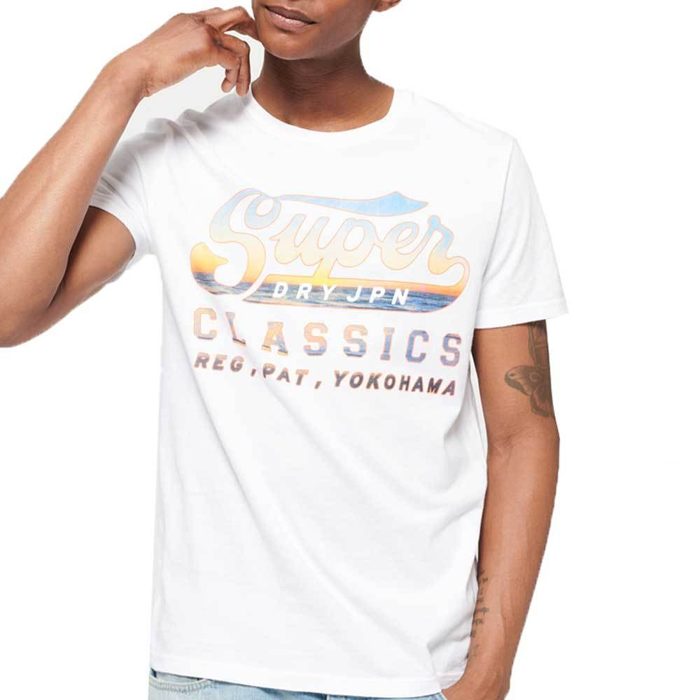 Superdry Mens Classics Lite T-Shirt - Swoosh White - so-ldn