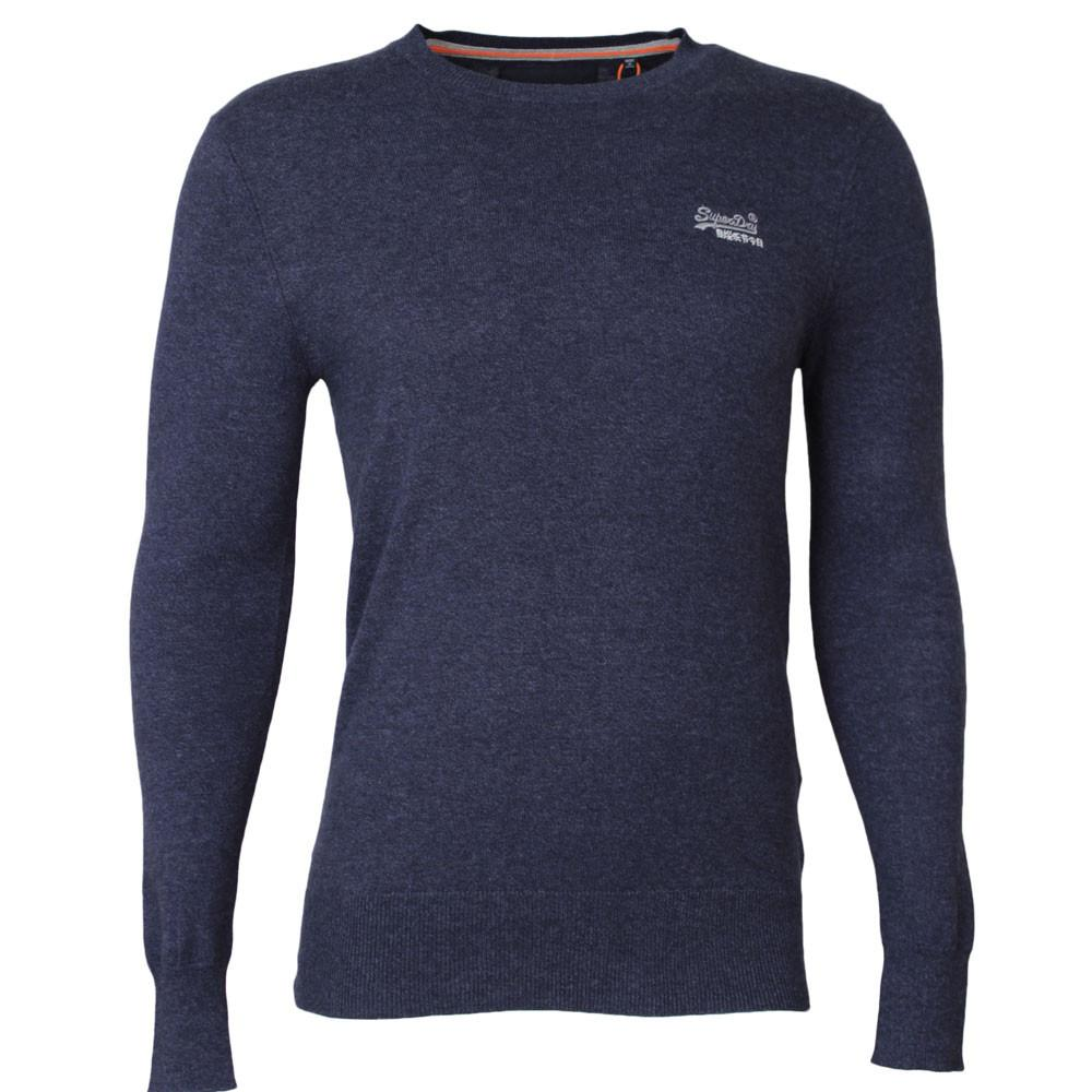 Superdry Orange Label Crew Neck Jumper - Dull Navy - so-ldn